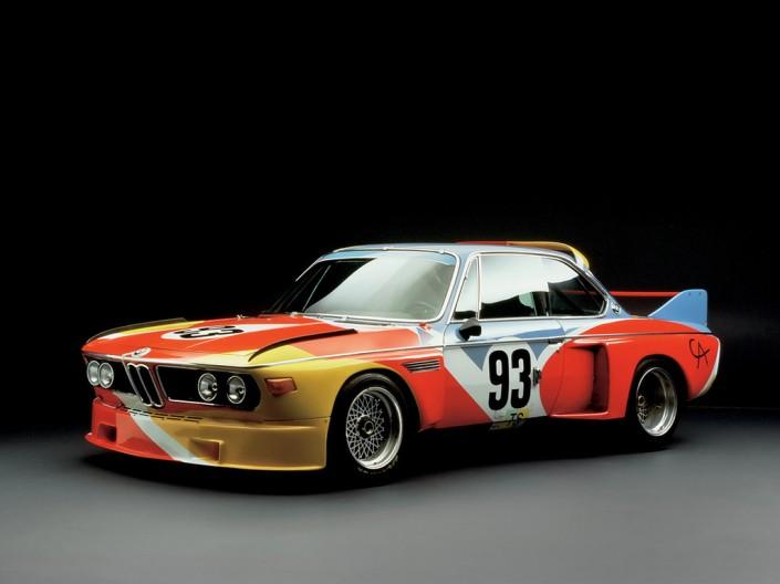 BMW_CSL_1975_Art_Car_by_Alexander_Calder  BMW Art Cars | Art Basel BMW CSL 1975 Art Car by Alexander Calder 705x528