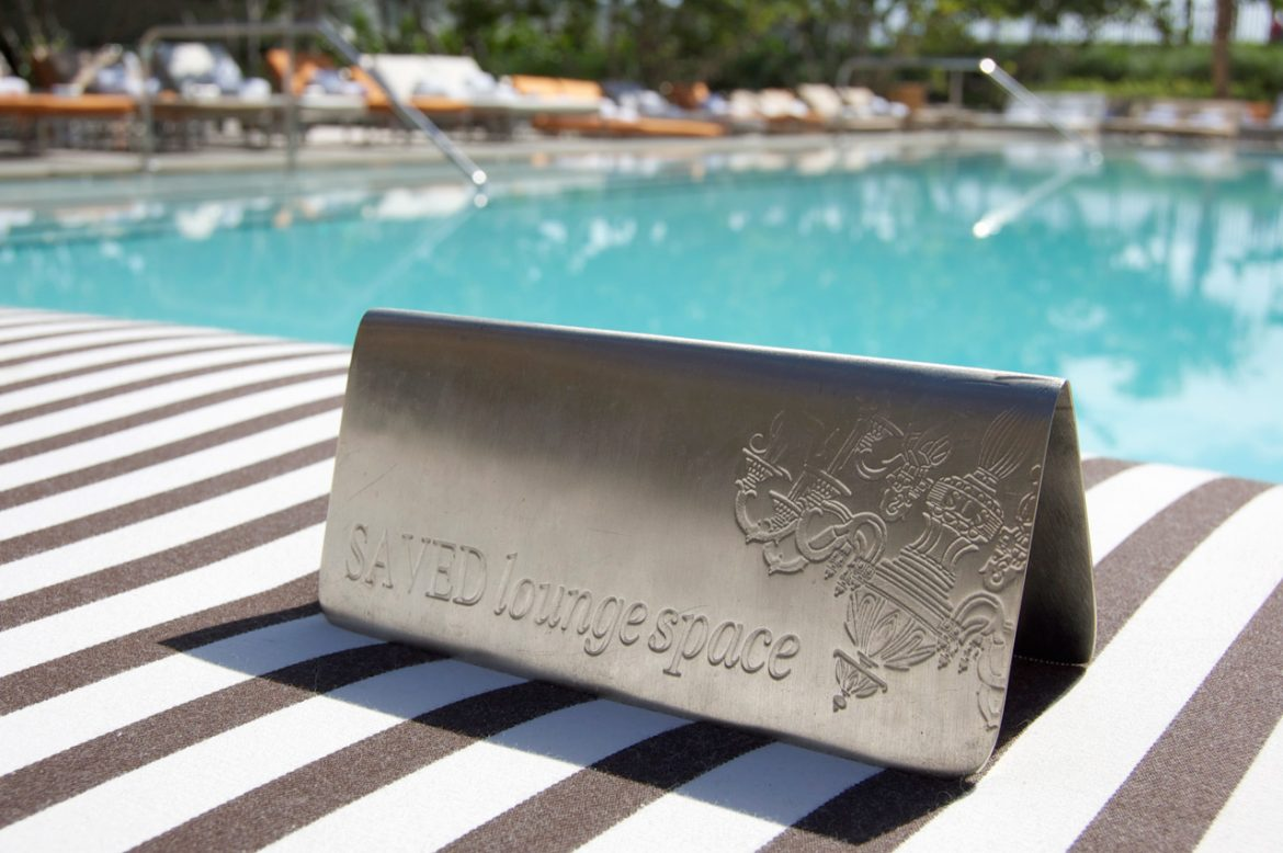 Top 3 Hotels in Miami sls hotel miami engraved reserved sign plaque vip