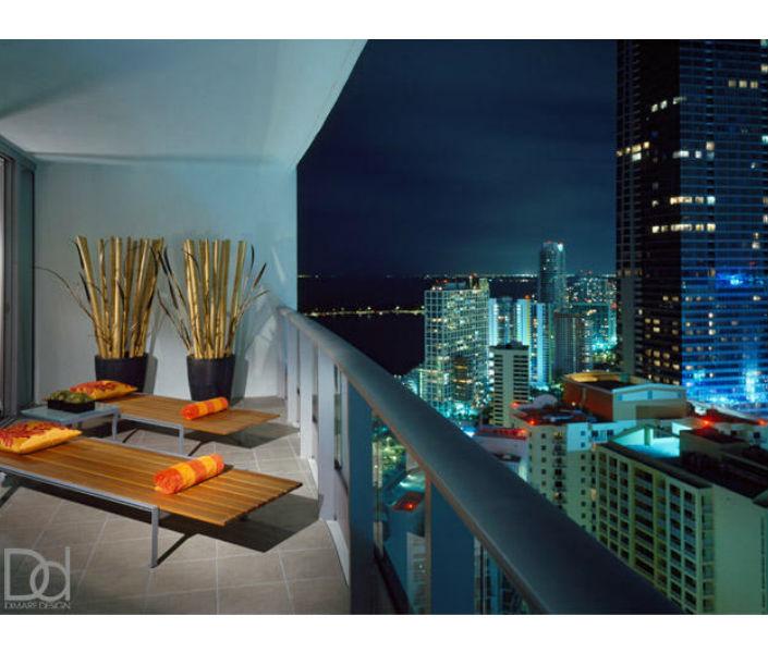 Miami Design Agenda Penthouse Spice Interior DiMare Blue Balcony