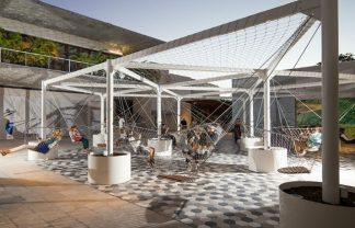 Design Miami The Largest 3D Printed Structure Entrance Celebrates Design Miami 2016 about palm court swings 324x208