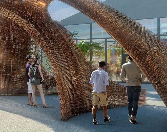 design-miami-shop-architects-entrance-installation-designboom-04 Design Miami The Largest 3D Printed Structure Entrance Celebrates Design Miami 2016 design miami shop architects entrance installation designboom 04