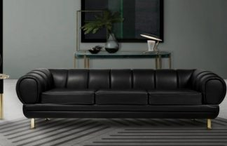 leather sofa 5 Black Leather Sofas ideal for your living room DESTAQUE 2 324x208