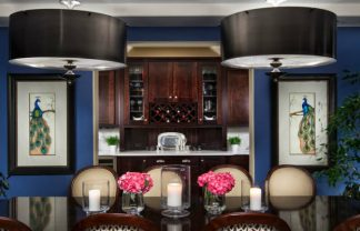 blue dining rooms Blue dining rooms: how to apply the color to your dining room DESTAQUE 3 324x208
