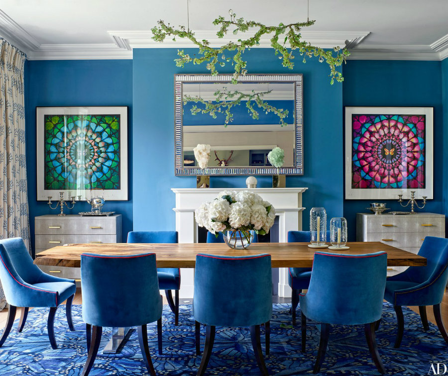 blue dining rooms Blue dining rooms: how to apply the color to your dining room IMG4 1
