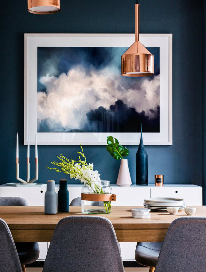 Blue dining rooms: how to apply the color to your dining room blue dining rooms Blue dining rooms: how to apply the color to your dining room Img1