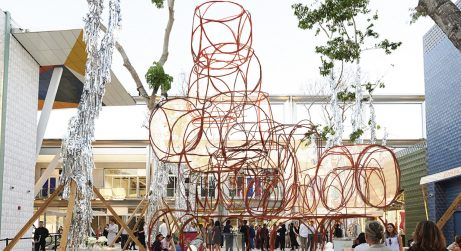 Yona Friedman And His First Art Project In The USA yona friedman Yona Friedman And His First Art Project In The USA Prototype sculpture by sculptor Yona Friedman for the Miami Design District 461x251